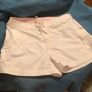 "O""Neill white pink swim board shorts jrs sz 9"